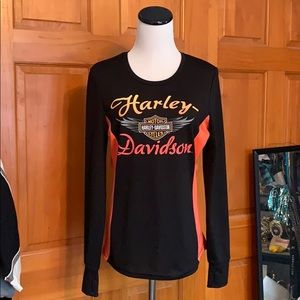 Harley-Davidson Polyester Long Sleeve Top